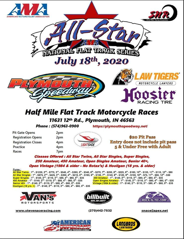 AMA Flat Track All Star Race @ Plymouth Speedway | Plymouth | Indiana | United States