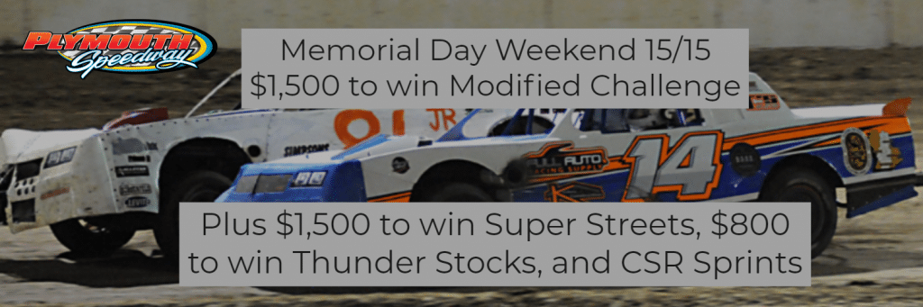 Memorial Day Weekend Modified Challenge @ Plymouth Speedway | Plymouth | Indiana | United States